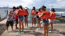 Binibinis visit Taal Crater Lake and Volcano