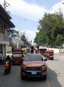 Motorcade upon arrival in Bohol, Philippines